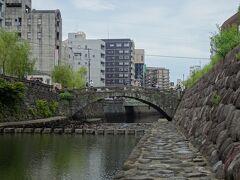 眼鏡橋ほど有名では無いですが、となりの橋もいい感じでした。  袋橋というそうです。