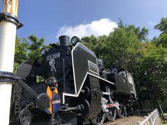 中標津町 郷土館に来ましたが、閉まってました。同じ敷地内に機関車がありました。