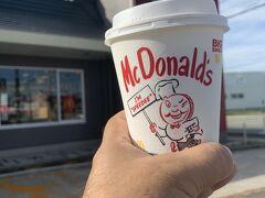 朝 マックでコーヒーを飲み、トイレ済ませて出発だ。