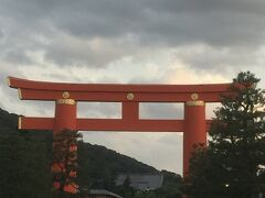 夕暮れの平安神宮。 今度は、またゆっくり行きたいな。