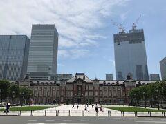 『フォーシーズンズホテル東京大手町』から散歩がてら東京駅まで 歩いてきました (#^^#)  写真左の東京都中央区八重洲に建築中の超高層ビルは・・・。