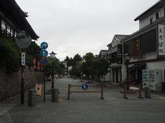 善光寺の横の道路に入っていたようです。