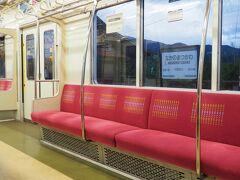 信州中野駅を出発するとぐんぐん勾配を登りだします。これは面白い!