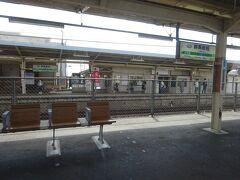 群馬総社駅。 特急列車がたくさん走っていた頃使われていたであろう中線は、閉鎖されていた。