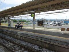 この駅の駅名標もSL列車仕様だった。