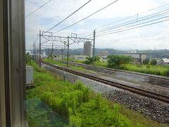 渋川駅から、上越線と分かれて吾妻線に入る。