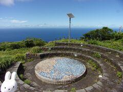 尾山展望公園に着きました。 日本地図があります。