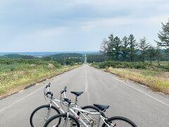 きよーる道の駅でマウンテンバイクを貸りてサイクリング!有名な天に続く道ではありませんが、まっすぐの道でとても気持ち良かった!アップダウンはありましたが^^;