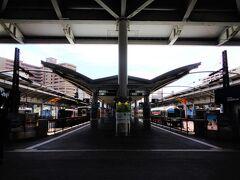 高松駅は行き止まり駅。 旅心を掻き立てる、終着駅のこの風景。