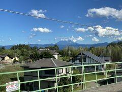 先日も同様、新府駅からも富士山が。