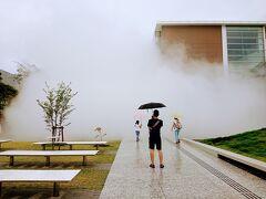 1時間に一度の霧の彫刻です。