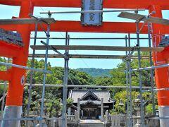 tojの敷地内に所在する神社. 工事㊥でした...(^_^;)?