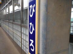 帯広駅に到着しました。ここから特急で札幌まで行きます。  窓側の席が空いておらず。悪天候なのもあって車窓を楽しむのは諦めました。それもあってか、少し酔いそうになりました。