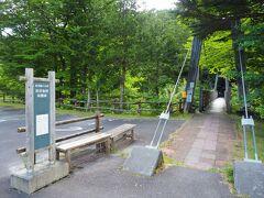 やってきたのはこちら。赤沢自然休養林。先程の森林鉄道車両の説明看板にも書いてありましたね。今回の旅行の目的地はここだったんです。