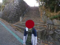 海潮院から東光寺までは1キロほどの道のりですが、少し登った場所になります。この階段を上がったら東光寺です。