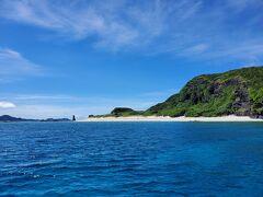 本日は港に戻らずに、そのまま2本目のポイントへ移動しました。この島は「安室島」という名前だそうです。