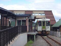 もともと国鉄柳津線の終点だった柳津駅。 気仙沼線の全通で途中駅になったがふたたび終点となってしまった。 果たしてこの鉄路区間もいつまで続くか分からない。実際にBRTは前谷地からも出ている。