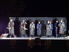 20時から「峡谷火まつり」が開催されていたので行ってみました。 最初は上川アイヌ民族舞踊。