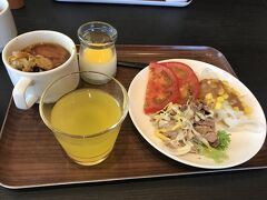 ホテル一花の朝ごはん  洋食のビュッフェスタイル。