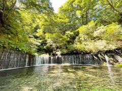 新緑と滝。 この季節ならではの美しさ。 見てるだけで涼しい。