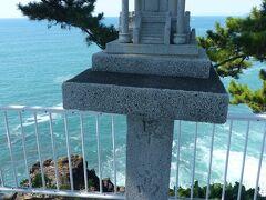 龍宮岬展望台にある早高神社。