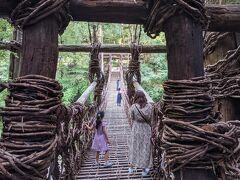 かずら橋は45m、幅2m。