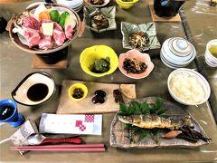 展望の宿 ふきあげ  08月11日(水)  18:00  今日も自家農園で作られた食材や地元の食材が ずらりと並ぶ夕食タイム~~♪♪