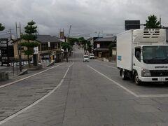 到着しました!出雲大社とお~くに大鳥居(出雲大社宇迦橋大鳥居=一の鳥居) 神門通りの突き当り(?)にあります。