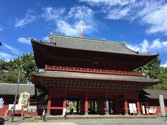 増上寺の三解脱門が見えてきました。