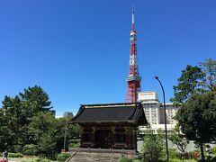 芝公園んを出て、日比谷通り沿いに建つ、増上寺のもうひとつの門も見学します。