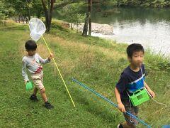 午後に雨が上がったので、カラマツ池周辺で昆虫採集や