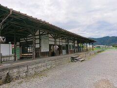 東側の入り口から進んでいくと、かつての松代の駅舎跡があります。 長野電鉄屋代線というのが走っていたらしいですが、ちょっと勉強不足。