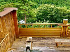 こちらのパノラマ温泉を楽しみます。 天気が良いと、富士山も見えるみたい。  ぬるめのお湯なので、ゆっくりと浸かれます。