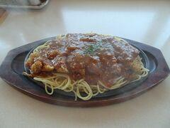 バスの待ち時間が1時間以上あったので、空港のお店で朝食兼昼食。釧路名物だという「スパカツ」を頂きました。