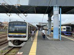 成田から1時間20分ほどで銚子駅に到着。