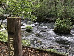 ホテルまで戻るルートも奥入瀬渓流をゆっくり下って来たら、往きには見つけられなかった「三乱の流れ」を発見!
