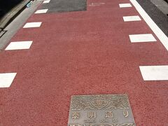 銀座の小路には必ずといっていいほど名前が付いていて、その表示が街路灯等にあります。泰明小学校向いの小路だけは、表示が地面にしかありませんでした。