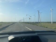 風車の列もすごい!