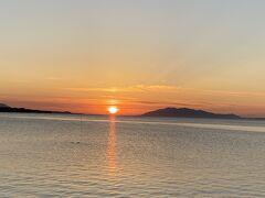 宍道湖の松江サイドにちょうどいいタイミングでたどり着きました