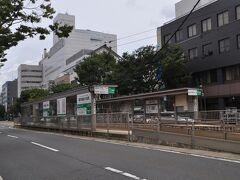 お腹いっぱいになり、駅へ戻ります。  こちらがヨーロッパ軒最寄り駅の福井城址大名町駅(電停)