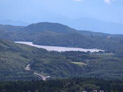 野尻湖をズームで。