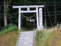 定山渓神社。  もう疲れているので、遠くから参拝。