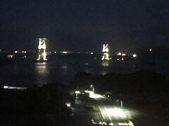 大鳴門橋のライトアップを見ながら、徳島の夜は過ぎて行くのでした。 「ええ!もう明日帰るの?早すぎる~!」とか思いながら。