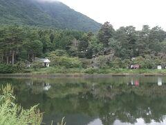 別荘街は大沼湖の近く