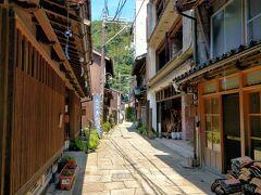 江戸時代、海から青い石を切り出し、この参道に敷き詰めたそうですが乾いていると普通の石ですが、これが雨に濡れると青みがかった色に変わるそうです。