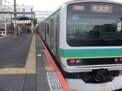 年が明ける前から謹賀新年の表示をしている成田駅から宮城山形の旅をスタートします。成田線を使って東日本大震災の不通区間を開通した常磐線に合流します。電車は常磐線直通品川行でしたが、成田線内の運転も常磐線の表示で運転されておりました。