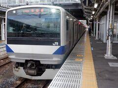 いわき駅から今回復旧した区間を行く12時13分発の原ノ町行に乗車します。