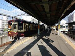 終点の桐生駅まで乗ってみました。わたらせ渓谷鉄道全線制覇です。