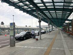 函館空港到着。タクるよ。