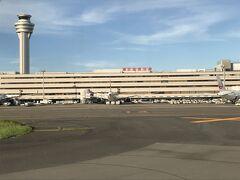 あっという間のフライト 羽田空港に到着。